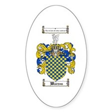 Warren Coat of Arms Oval Decal