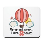 Second 2nd Birthday Hot Air Balloon Mousepad
