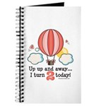 Second 2nd Birthday Hot Air Balloon Journal
