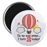 Second 2nd Birthday Hot Air Balloon Magnet