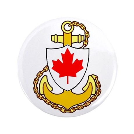 """Royal Canadian Navy 3.5"""" Button"""