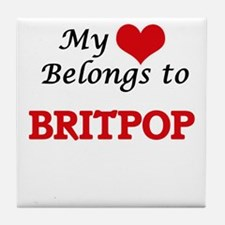 My heart belongs to Britpop Tile Coaster