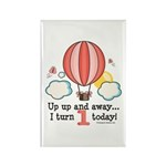 First 1st Birthday Hot Air Balloon Rectangle Magne