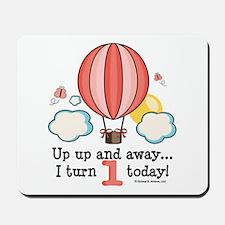 First 1st Birthday Hot Air Balloon Mousepad