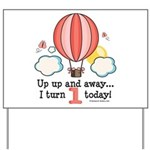 First 1st Birthday Hot Air Balloon Yard Sign