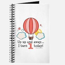 First 1st Birthday Hot Air Balloon Journal