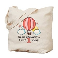 First 1st Birthday Hot Air Balloon Tote Bag