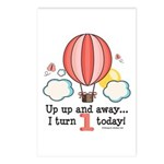 First 1st Birthday Hot Air Balloon Postcards (Pack