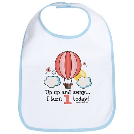 First 1st Birthday Hot Air Balloon Bib
