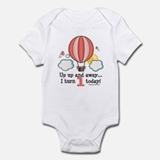 First 1st Birthday Hot Air Balloon Infant Bodysuit