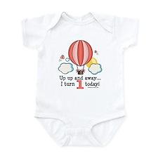 First 1st Birthday Hot Air Balloon Onesie