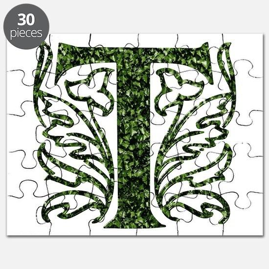 Ivy Monogram T - Puzzle