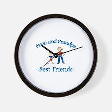 Isaac & Grandpa - Best Friend Wall Clock