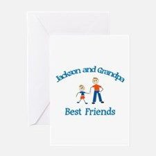Jackson & Grandpa - Best Frie Greeting Card
