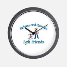 Jackson & Grandpa - Best Frie Wall Clock