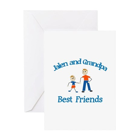 Jalen & Grandpa - Best Friend Greeting Card
