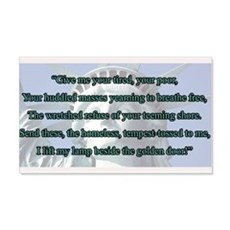 Lady Liberty's Give Me Your Tired Wall Decal