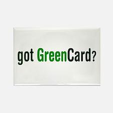 got Green Card Rectangle Magnet