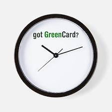 got Green Card Wall Clock