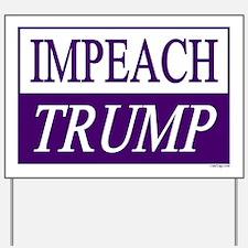 Impeach Trump Purple & White Yard Sign