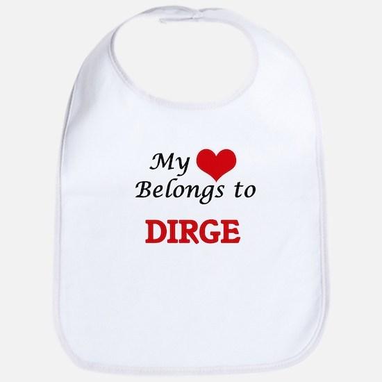 My heart belongs to Dirge Baby Bib