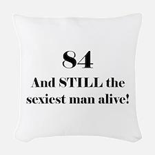 84 Still Sexiest 1C Black Woven Throw Pillow