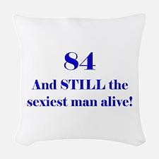 84 Still Sexiest 1C Blue Woven Throw Pillow