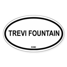 Trevi Fountain Oval Decal