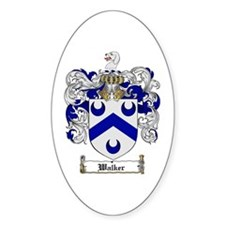 Walker Coat of Arms Oval Decal