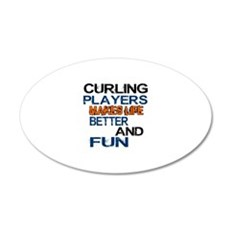 Curling Players Makes Life B Wall Decal
