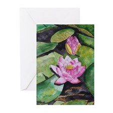 Funny Water lily Greeting Cards (Pk of 20)