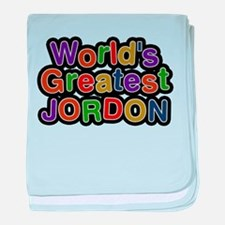 Worlds Greatest Jordon baby blanket