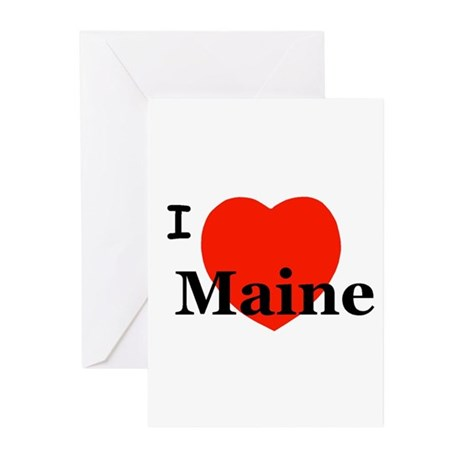 I Love Maine Greeting Cards (Pk of 10)
