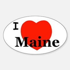 I Love Maine Oval Decal