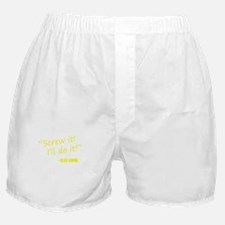 Screw it, I'll do it! - Black Women. Boxer Shorts