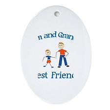 Liam & Grandpa - Best Friends Oval Ornament
