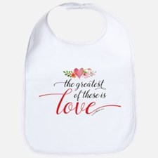 Greatest Love Baby Bib