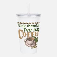 Coffee Think Retro Acrylic Double-wall Tumbler