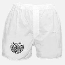 Denver Downtown City Landmarks Black Boxer Shorts