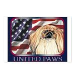 Pekingese Dog Patriotic USA Flag Postcards (8)