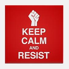 Keep Calm and Resist Tile Coaster