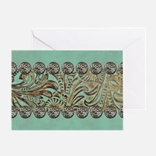 Tooled leather Greeting Card