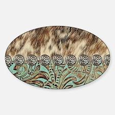 Unique Animal pattern cow Sticker (Oval)