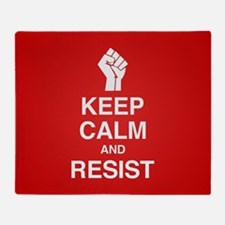 Keep Calm and Resist Throw Blanket
