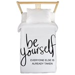 Be Yourself Printable Twin Duvet