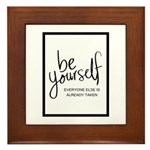 Be Yourself Printable Framed Tile
