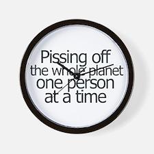 Pissing off everyone Wall Clock