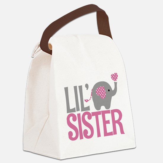 Elephant Little Sister Canvas Lunch Bag