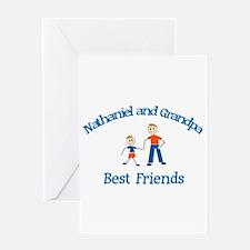 Nathaniel & Grandpa - Best Fr Greeting Card