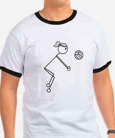 Volleyball Girl Black No Words T-Shirt